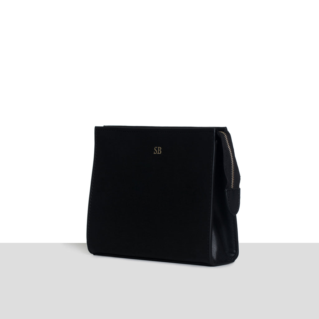 Black Smooth Cosmetic Bag