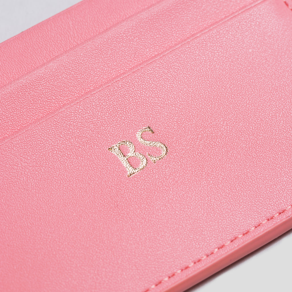 Pink Smooth Cardholder