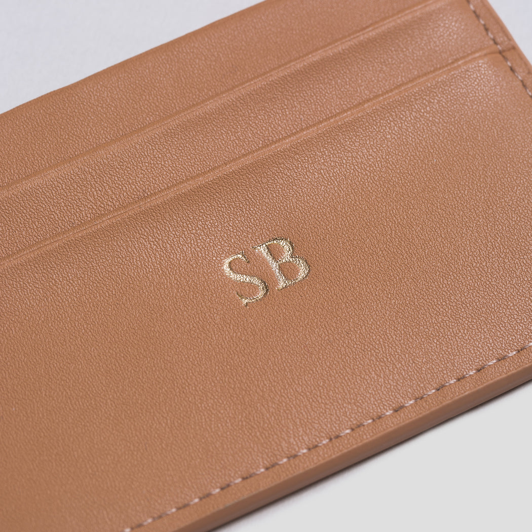 Camel Smooth Cardholder