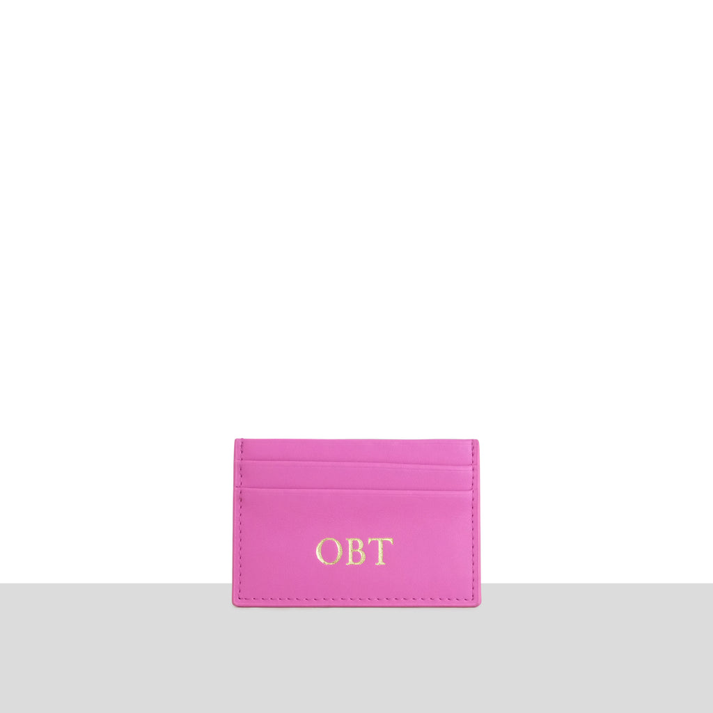 Magenta Smooth Cardholder