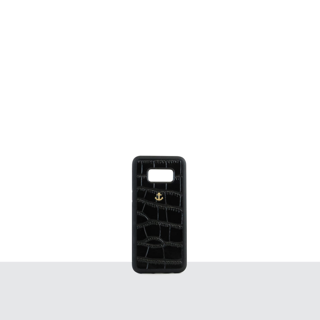Black Croc Samsung S8 Phone Case