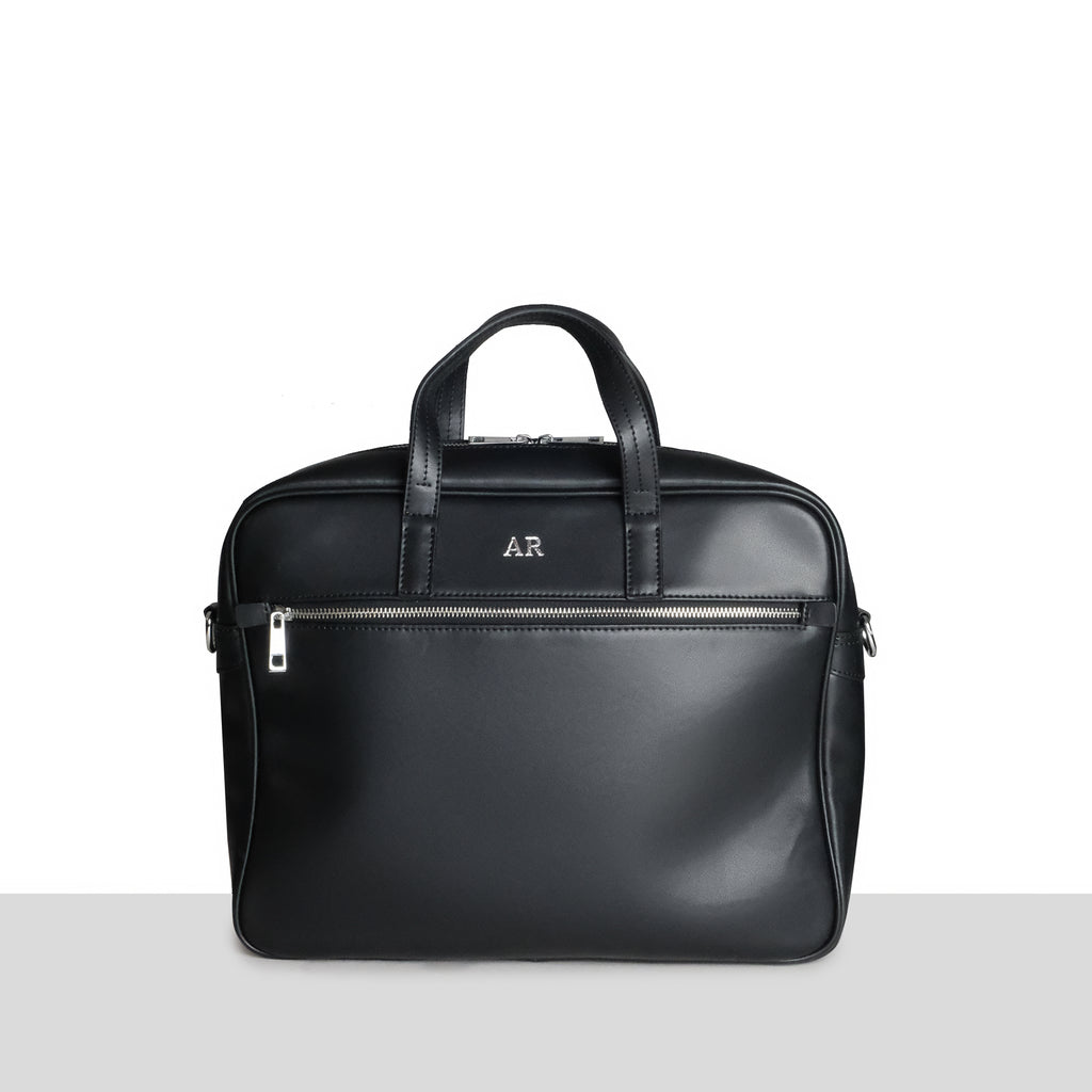 Black Smooth Leather Briefcase