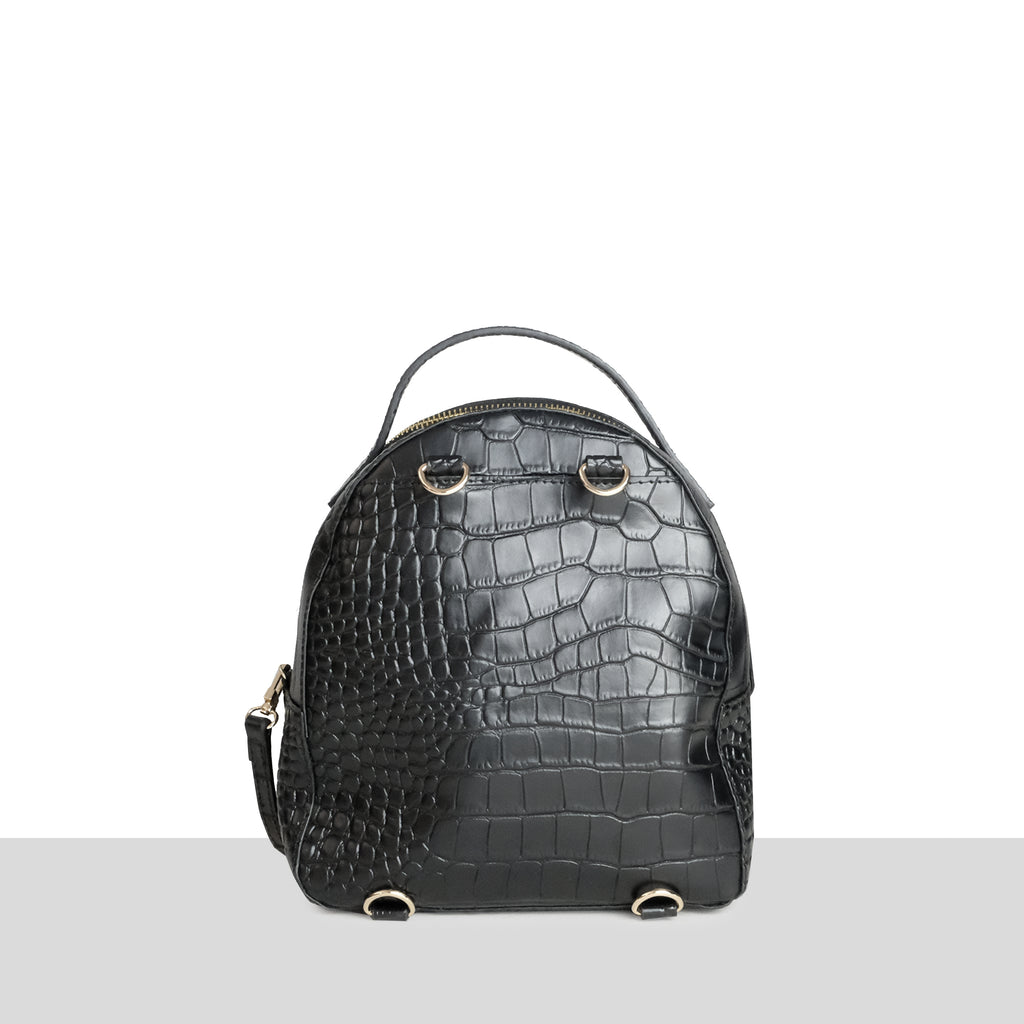 Marseille Mini in Black Croc