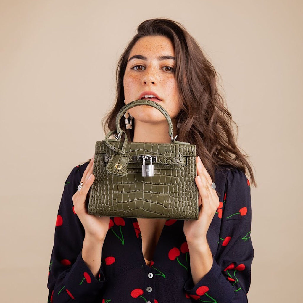 Monaco Mini Bag in Khaki Croc