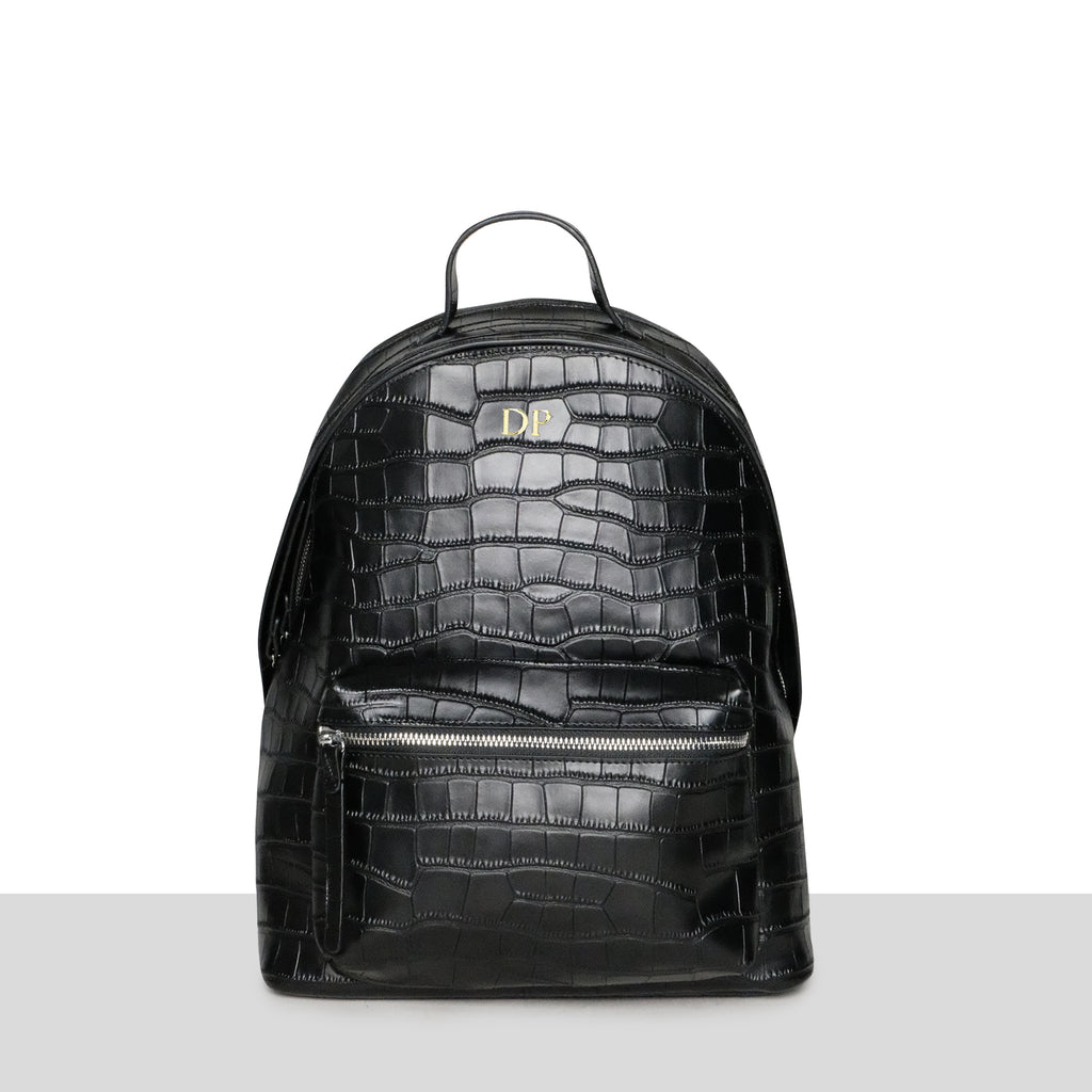 London Backpack in Black Croc