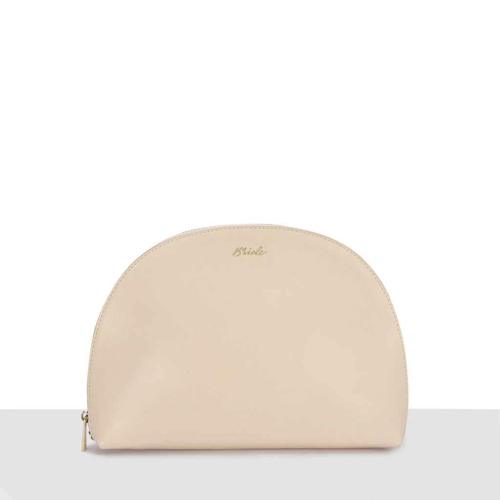 Cream Smooth Moon Clutch
