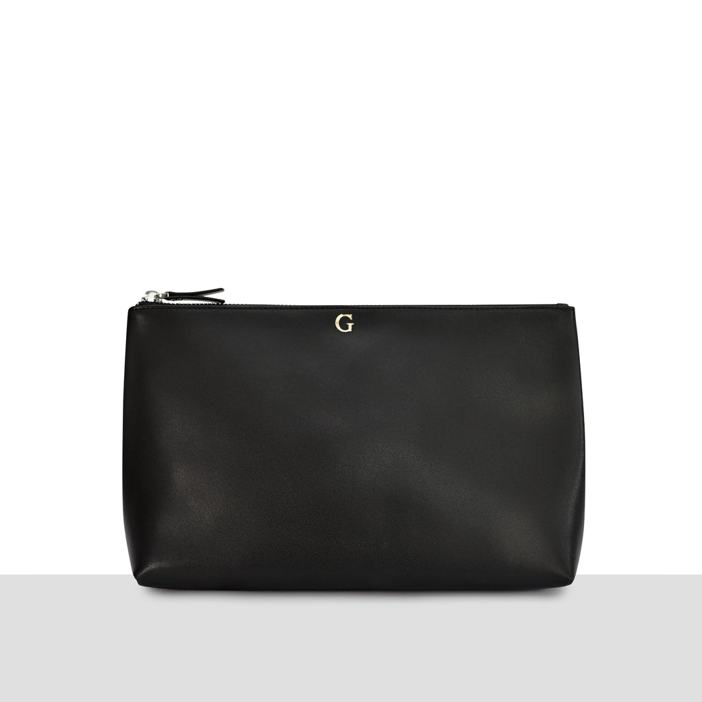 Munich Large Pouch in Black Smooth