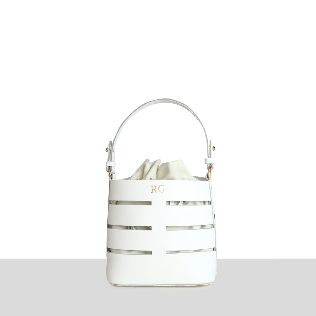 White Smooth Mini Cut Out Bucket