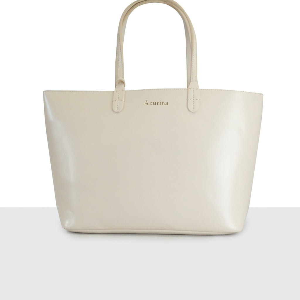 Cream Small Weekender Tote