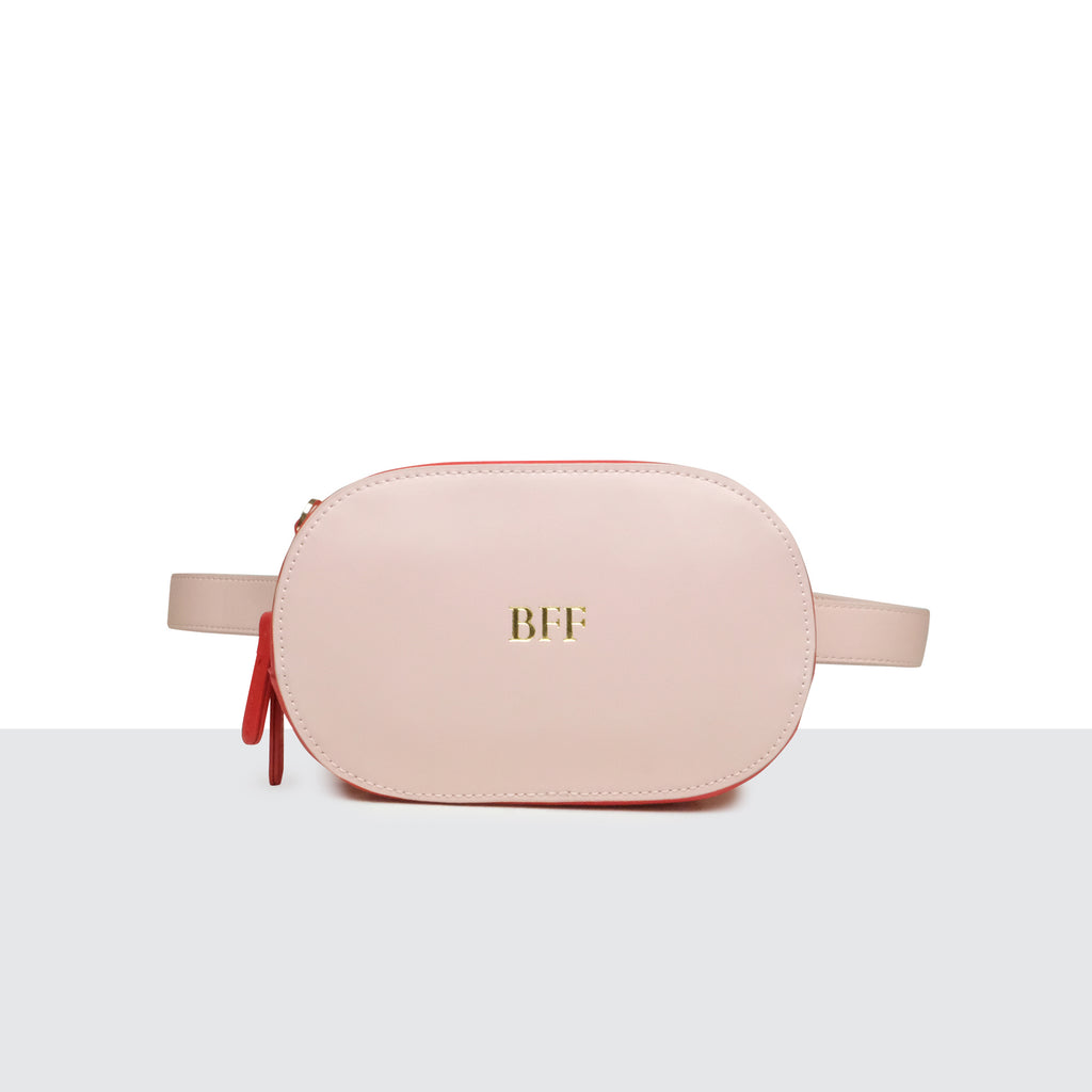 Pink and Red Multi-way Belt Bag