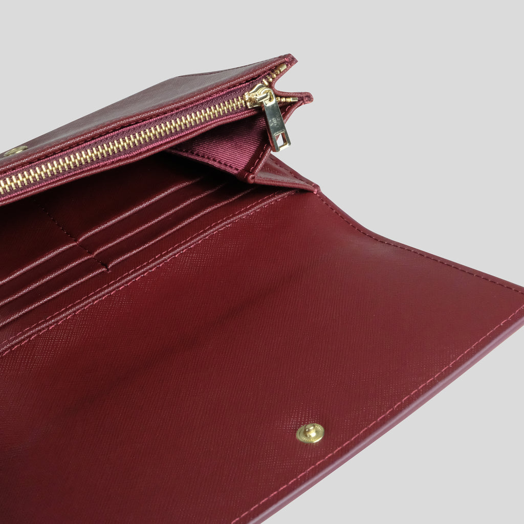 Sentier Wallet in Wine