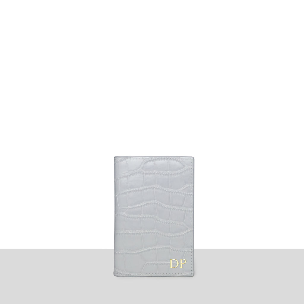 Grey Croc Passport Cover