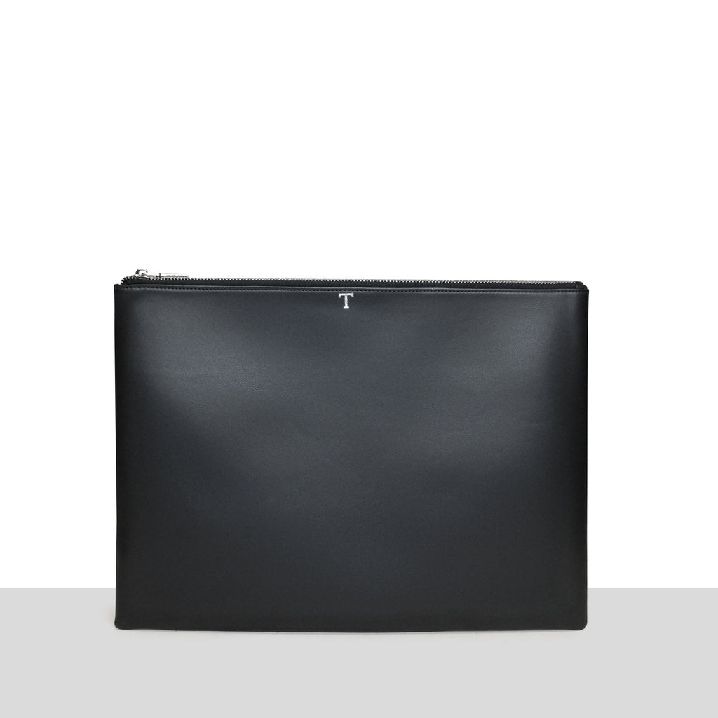 Black Smooth Laptop Pouch