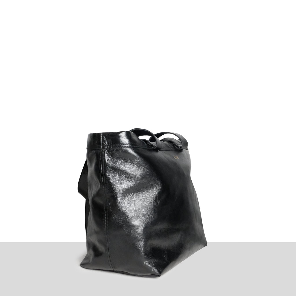 Black Super Smooth Double Strap Shopper