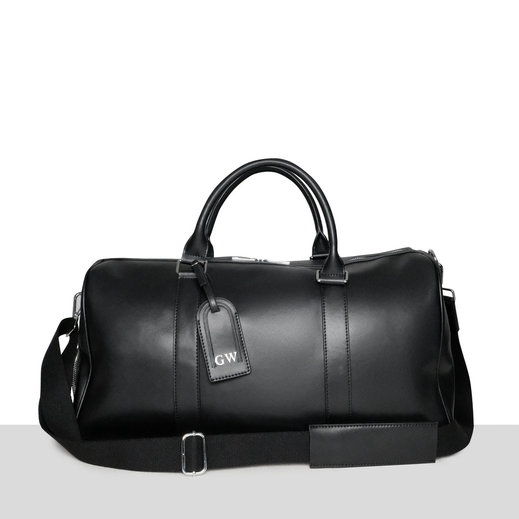 Amsterdam Weekend Bag in Black Smooth