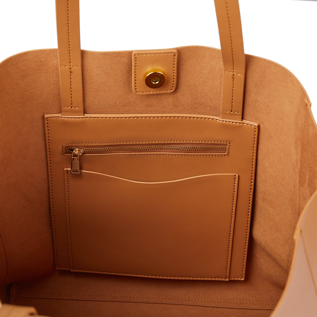 New York Tote in Tan