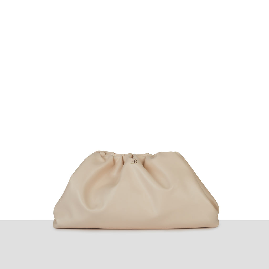 Cream 'Valencia' Supersoft Clutch