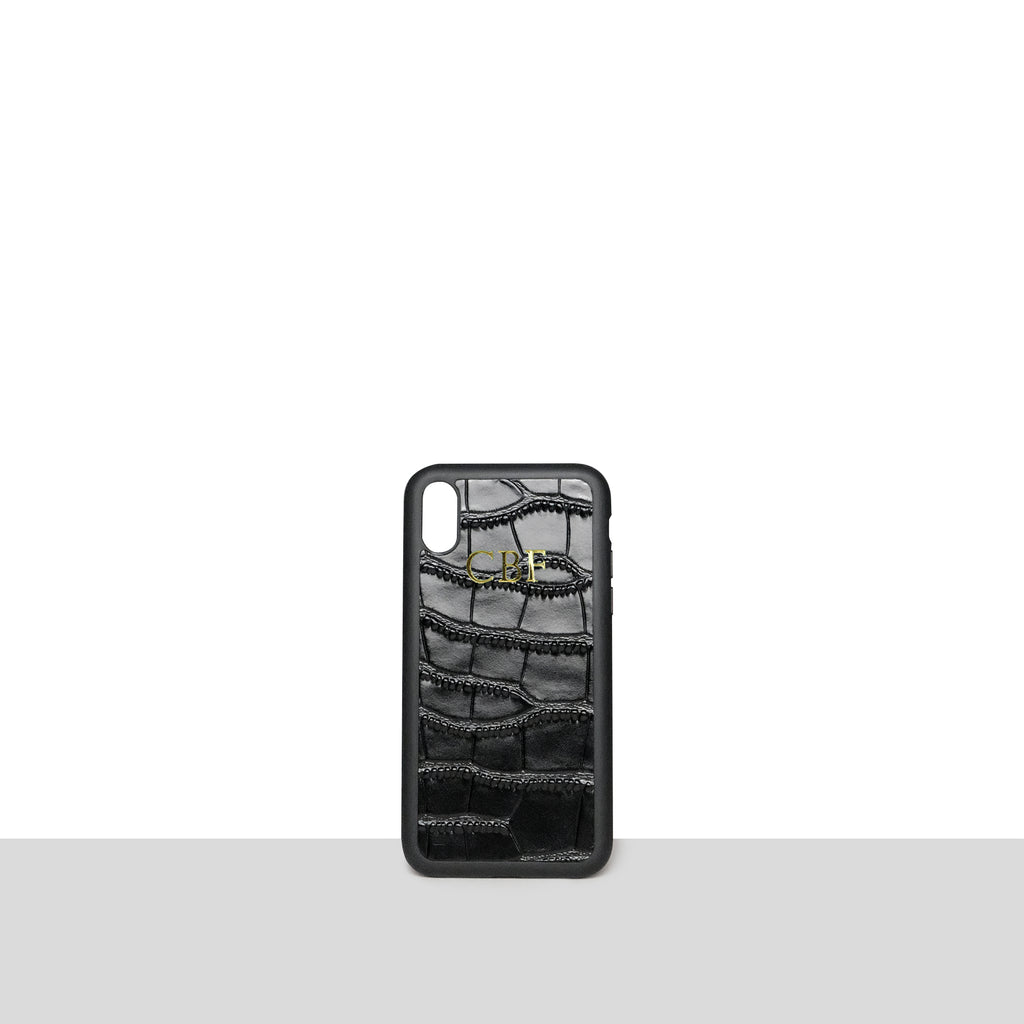 Black Croc iPhone X/XS Case