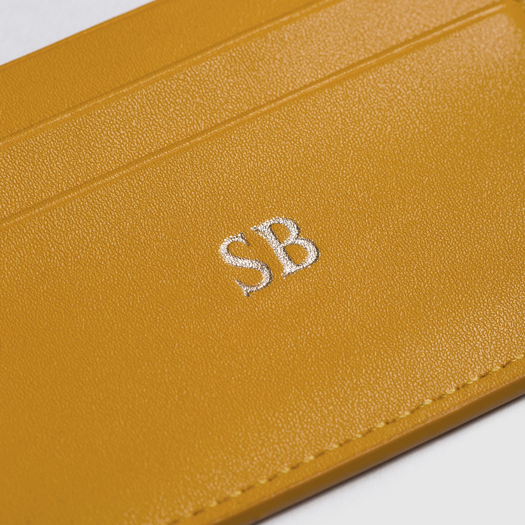 MUSTARD SMOOTH DOUBLE CARDHOLDER