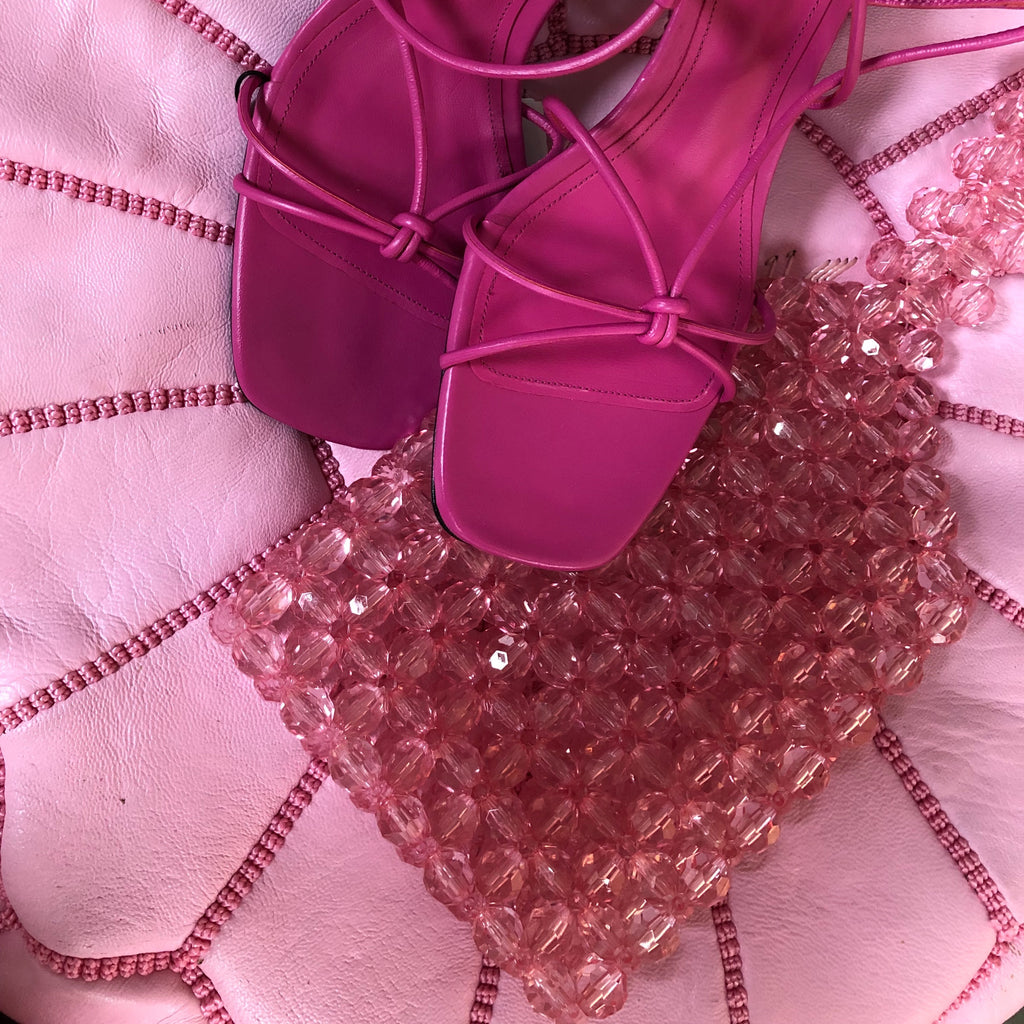 Pink Mini Beaded Shopper
