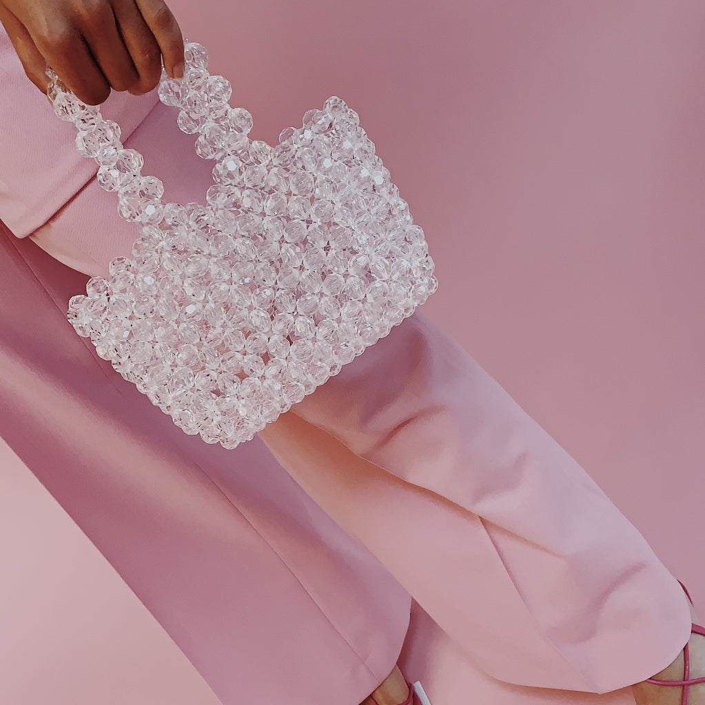 Clear Mini Beaded Bag