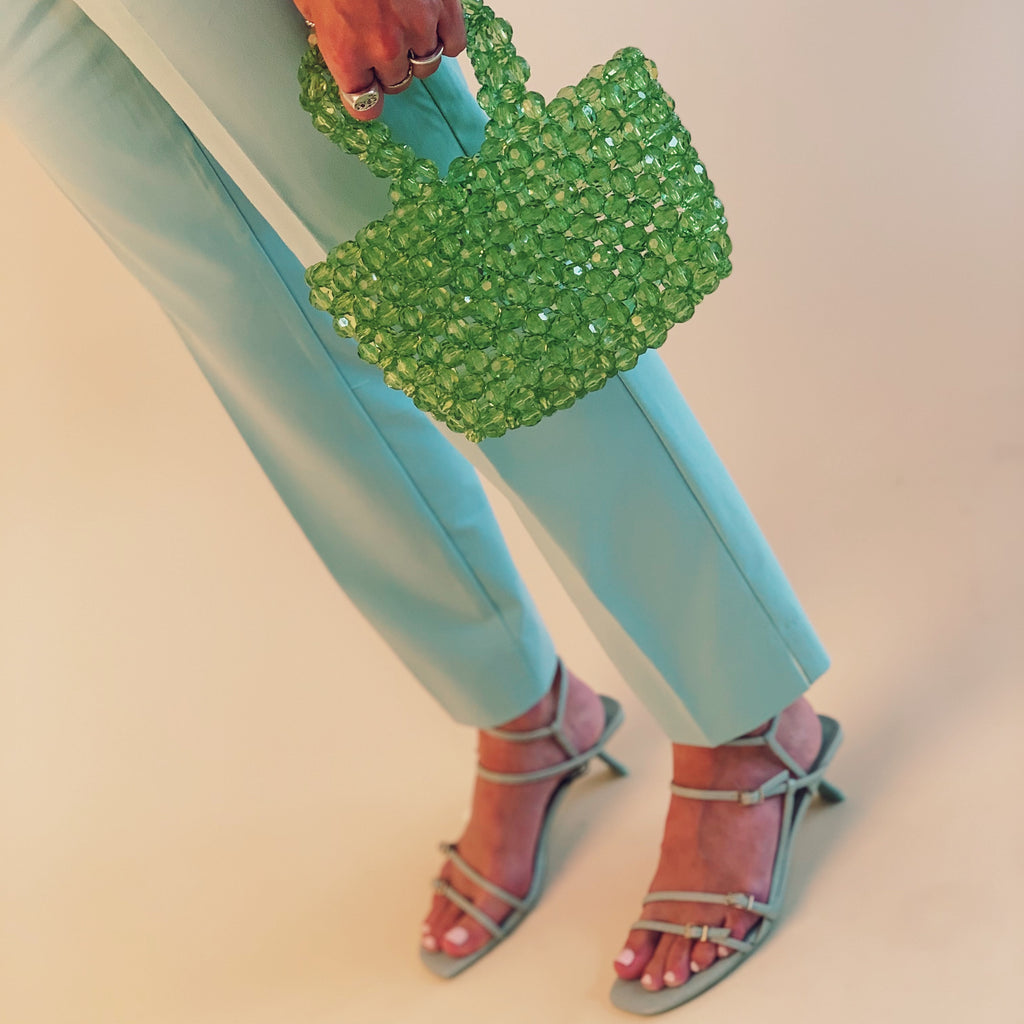 Green Mini Beaded Bag