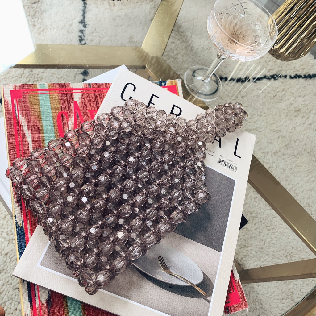 Mocha Mini Beaded Shopper