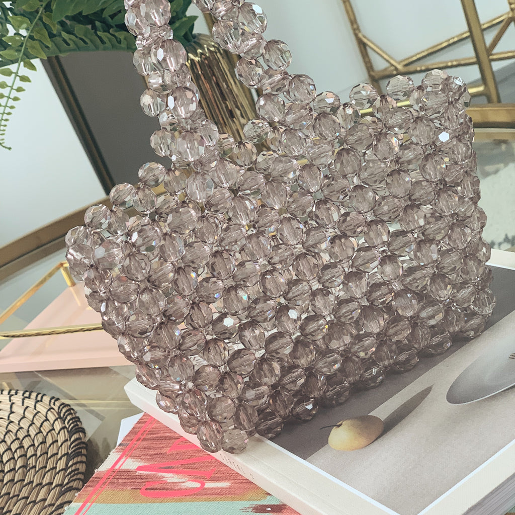 Mocha Mini Beaded Bag