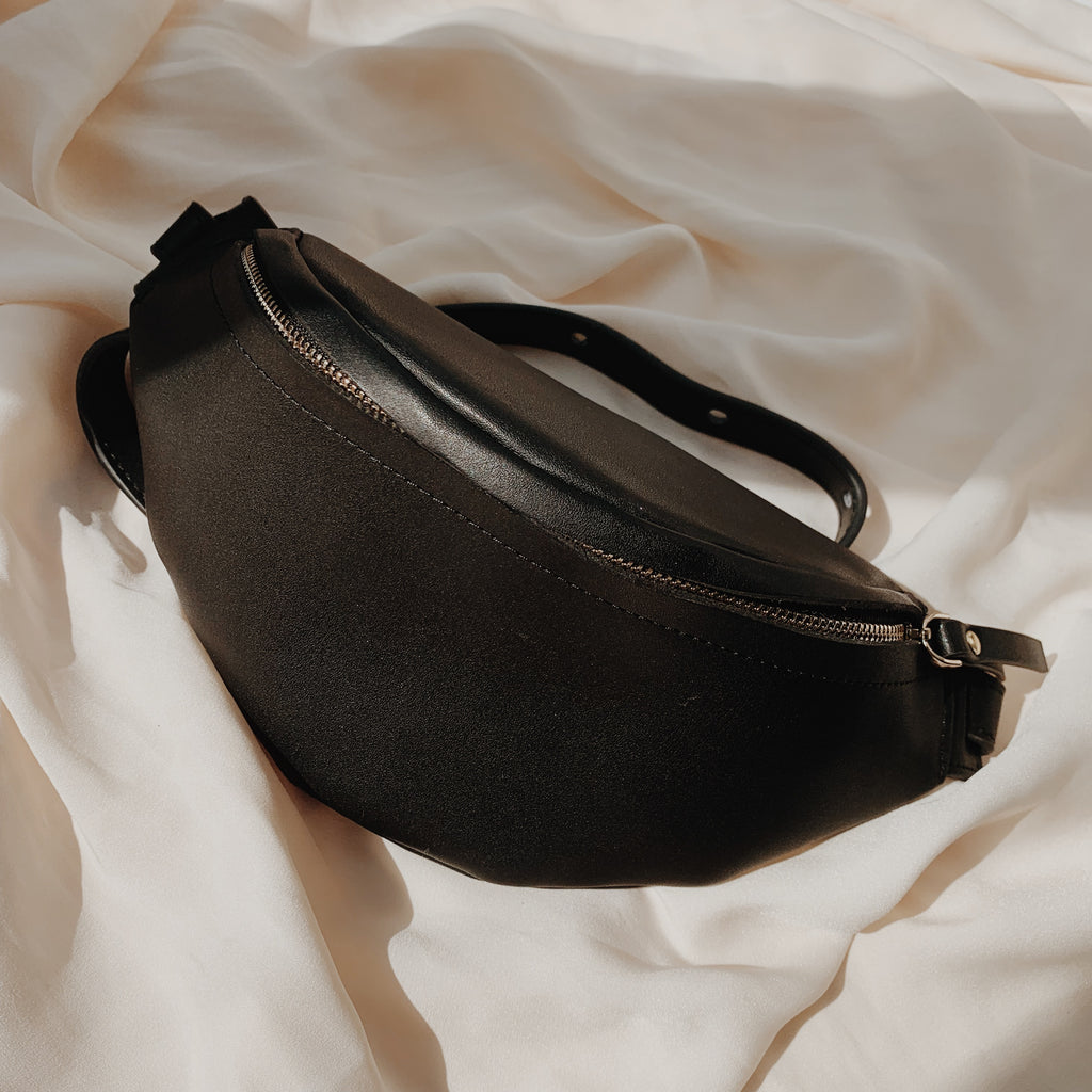 Black Smooth Bumbag