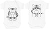 Tiger Front & Back Design Baby Bodysuit