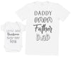 Baby Boy Wording & Daddy Wording Matching Father Baby Gift Set - Mens T Shirt & Baby Bodysuit