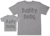Baby Dude & Daddy Dude Matching Father Baby Gift Set - Mens T Shirt & Baby T-Shirt