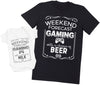 Weekend Forecast of Gaming - Mens T Shirt & Baby Bodysuit