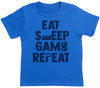 Eat Sleep Game Repeat - Kids T-Shirt