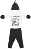 Up To No Good White Baby Outfit Gift Set