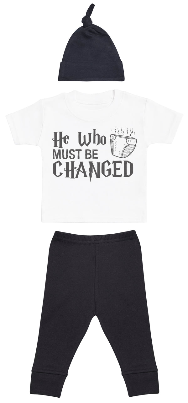 He Who Must Be Changed Baby Outfit Gift Set