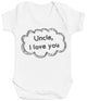 Uncle, I Love You Bubble - Baby Bodysuit
