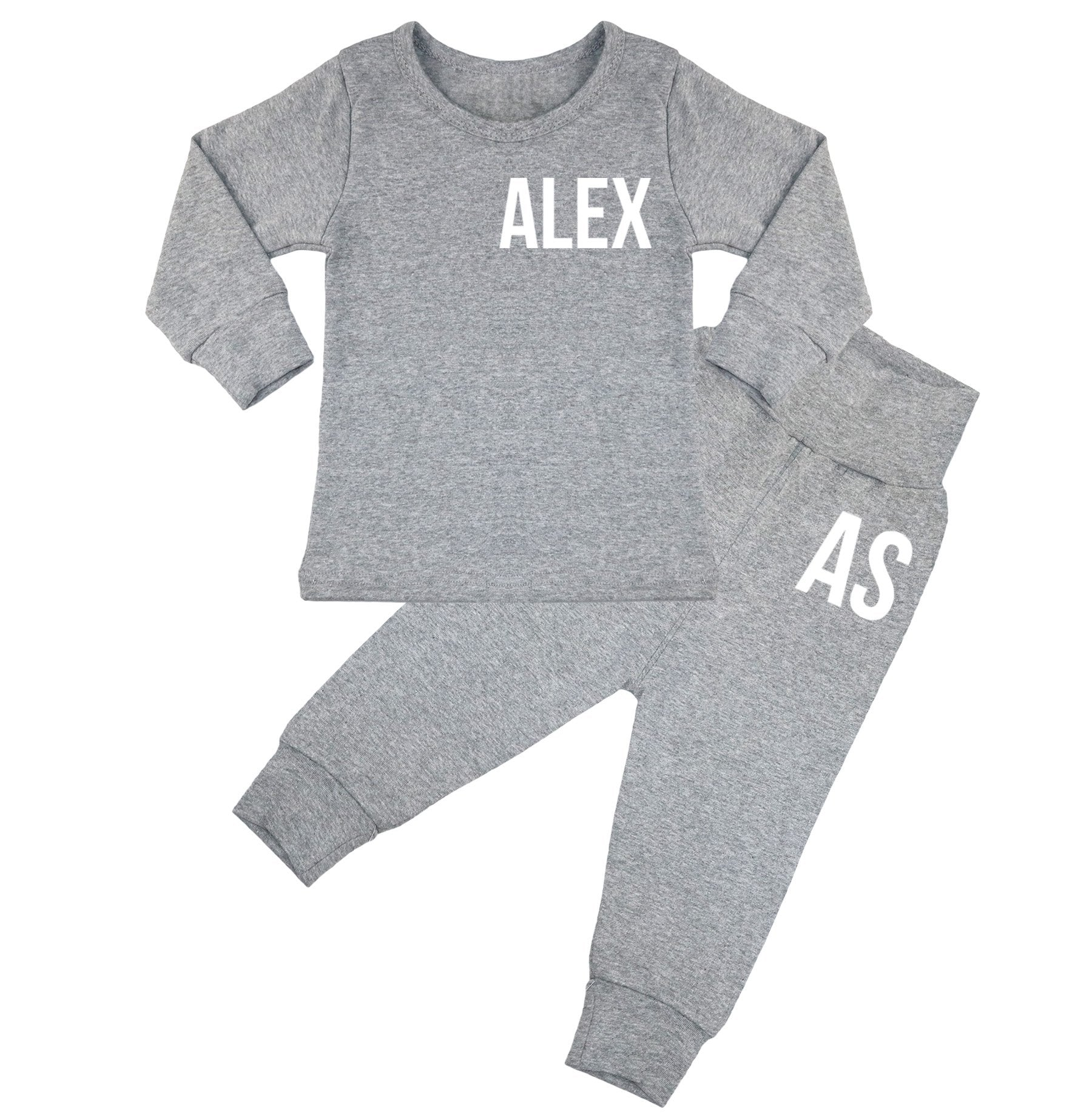Ohio Personalised Name & Initials Lounge Suit - 6 Colours - 0M-6yrs
