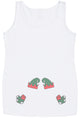 Twin Elves  Maternity Vest - Christmas Maternity Gift