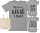 I Have Arrived Maternity Hospital Gift Set Bag with Hospital T-Shirt & New Baby Bodysuit
