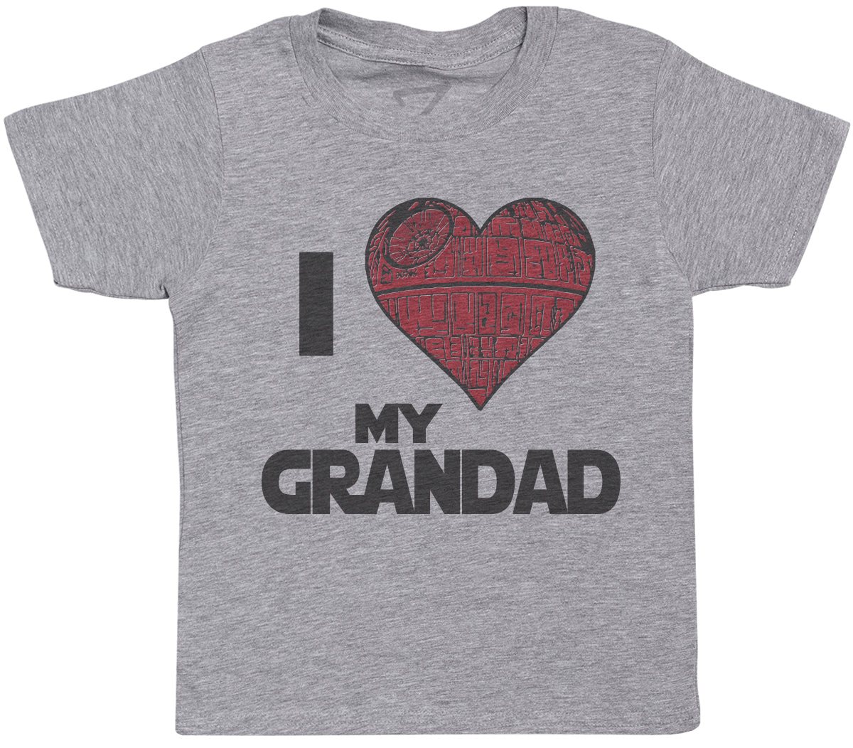 I Love My Grandad Star Heart- Kids T-Shirt