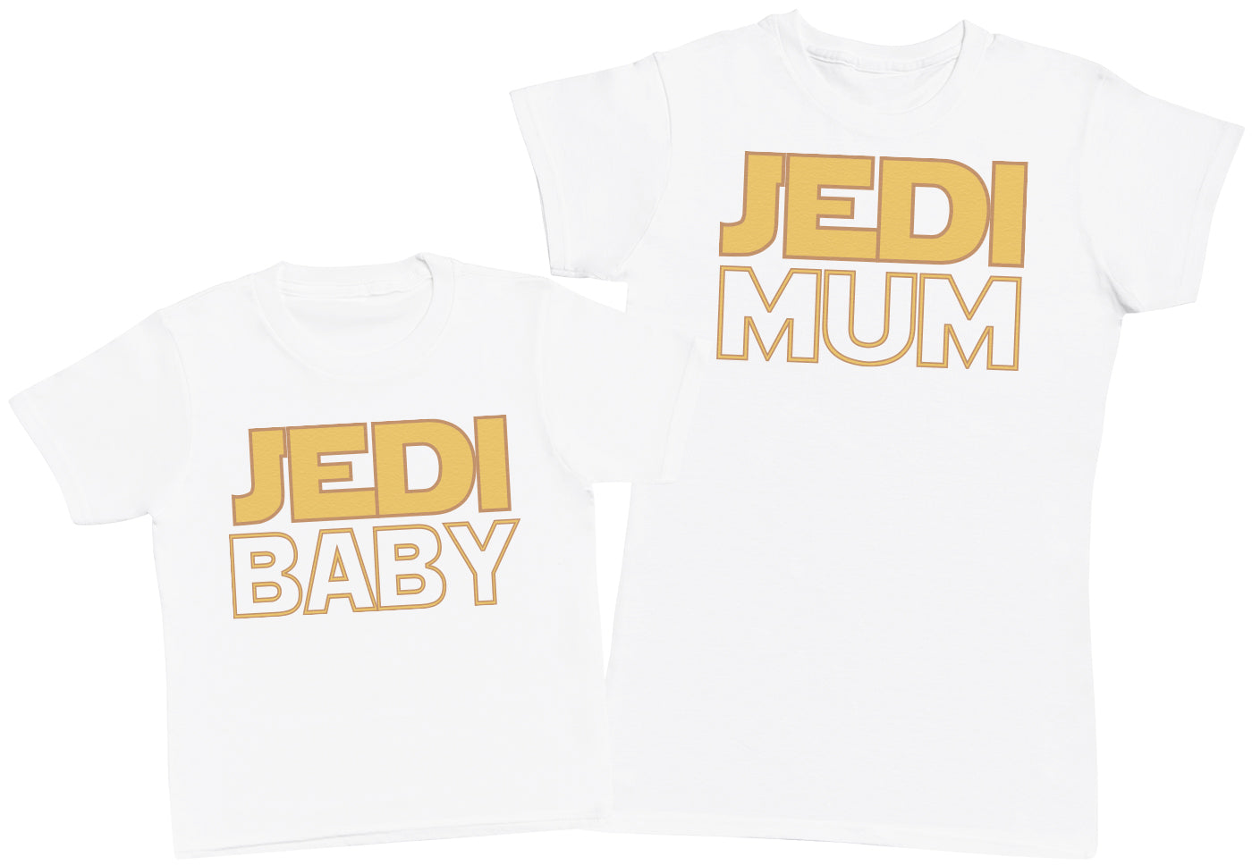 Jedi Baby & Jedi Mum - Kid's Gift Set with Kid's T-Shirt & Mother's T-Shirt