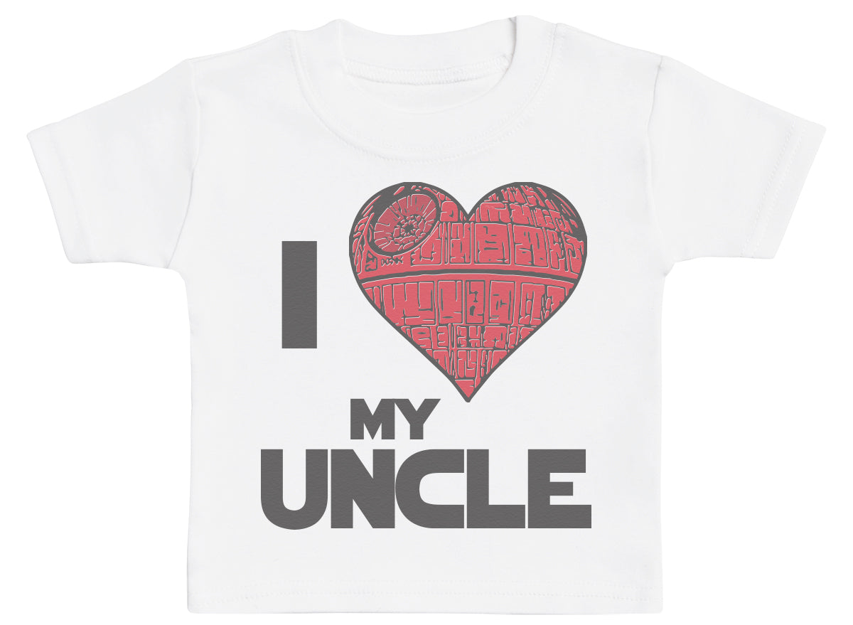 I Love My Uncle Star Heart - Baby T - Shirt