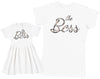 The Boss & The Real Boss - Baby Dress & Mother's T-Shirt