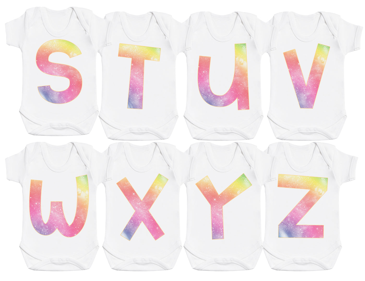 Rainbow First Name Letters Bodysuit