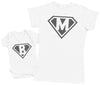 Super Heroes Baby - Baby Bodysuit & Mother's T-Shirt
