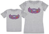 Senior Mum & Junior Girl - Kid's Gift Set with Kid's T-Shirt & Mother's T-Shirt