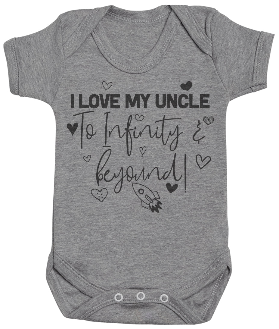 I Love My Uncle To Infinity & Beyond - Baby Bodysuit