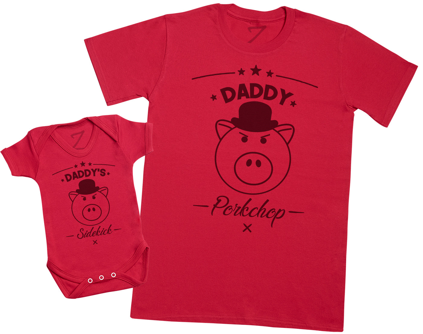 Daddy's Sidekick Porkchop - Mens T Shirt & Baby Bodysuit