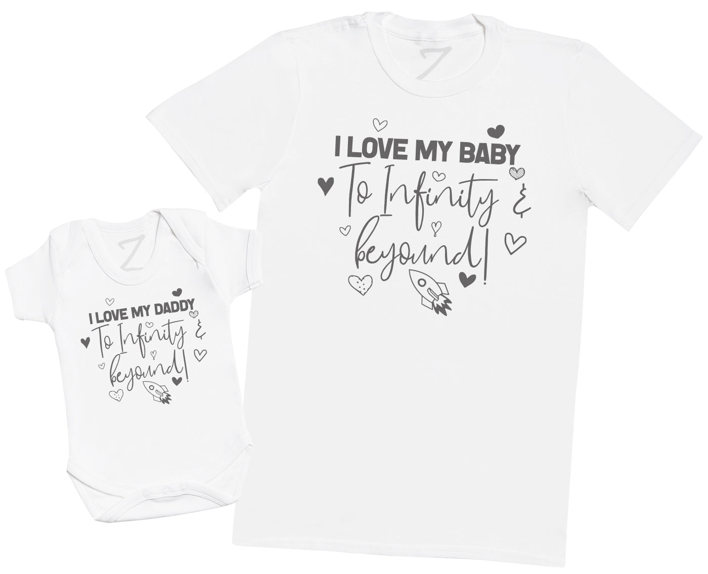 I Love My Daddy & Baby To Infinity & Beyond - Mens T Shirt & Baby Bodysuit
